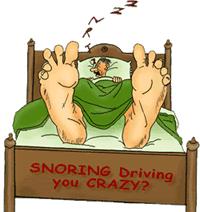 Loud snoring noise